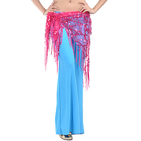 Belly Dance Belt Women's Training Polyester Sequins 1 Piece Hip Scarf