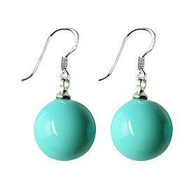 Exquisite Turquoise Round Earrings