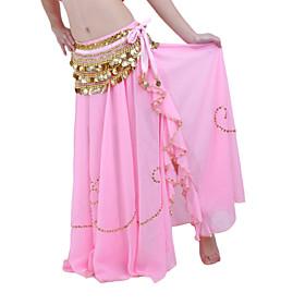 Belly Dance Skirts Women's Performance Chiffon Beading 1 Piece Dropped Skirt
