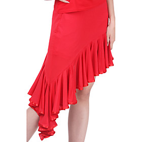 Latin Dance Skirts Women's Training Polyester Ruffles Natural plus size,  plus size fashion plus size appare