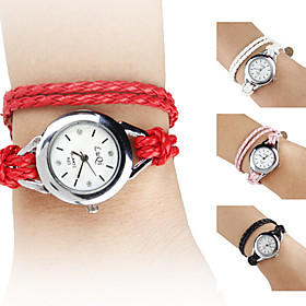 Reloj Brazalete An?go Quartz de Cuero PU para Mujer (Colores Surtidos)