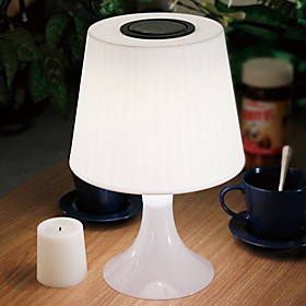 025W Comtemporary White Table Light with LED Light Solar Powered