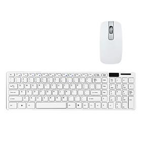 Ultra-Thin 2.4G teclado QWERTY y rat?it Teclado con tapa