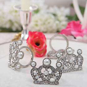 Silver Crown Napkin Rings (Set of 4)
