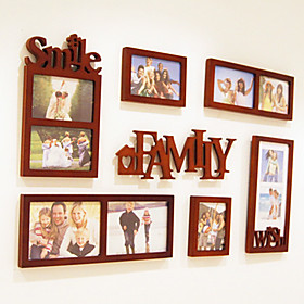 Family Theme Photo Wall Frame Collection - Set of 7
