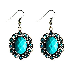 Vintage Sapphire Turquoise Earrings