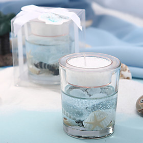 Lovely Beach Theme Candle Favors
