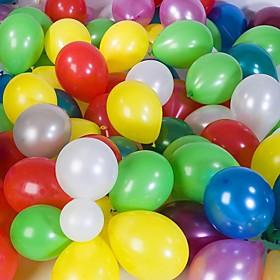 Wedding Décor Solid Color Round Ballon - Set of 100(Mixed Color)