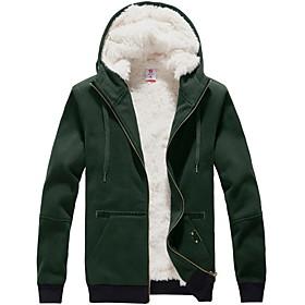 los hombres de moda chaqueta con capucha espesar