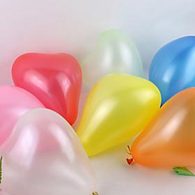 Wedding Décor Solid Color Heart-shaped Ballon - Set of 100(Mixed Color)