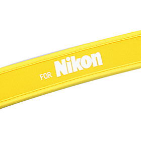 New Gul Kamera Neopren Halsrem Til Nikon D40x D60 D70s D80 D200 B103