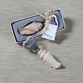 "Chrome / Resin Bottle Favor-1Piece/Set Bottle Openers Beach Theme Non-personalised Gold 4""x 1/4"" (100.6cm)Gift box with a organza ribbon"
