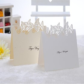Lovely Butterfly Design Place Card - Set of 12 (More Colors)