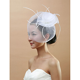 Wedding Veil One-tier Blusher Veils / Birdcage Veils Cut Edge Tulle thumbnail