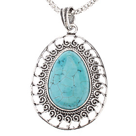 Water-drop Shape Turquoise Pendant Necklace
