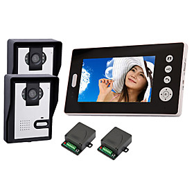 """Discount Electronics On Sale 2.4GHz Wireless 7"""" LCD Monitor Home Security Video Door Phone and Intercom System"""