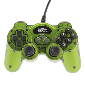Classic Double Shock 2 USB Wired Controller for PC (Green) (476955) photo
