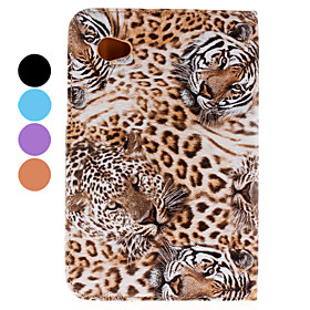 Beskyttende Tiger Pu Case Med Stand Til Samsung Galaxy Fane2 P3100/p6200