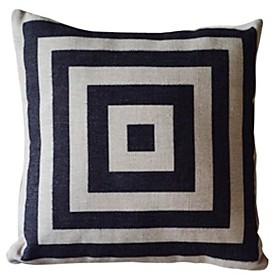 Geometric Pattern Cotton/Linen Decorative Pillow Cover