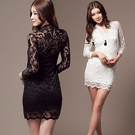 Women's Sheer Bodycon Lace Dress