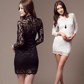 Women's Sheer Bodycon Lace Dress