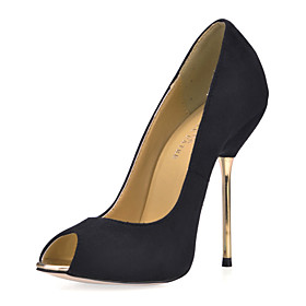 Fashion Suede Stiletto Heel Peep Toe Party / Evening Shoes