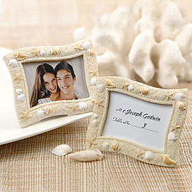 Seaside 'Sand og Shell placecard Holder / Photo Frame