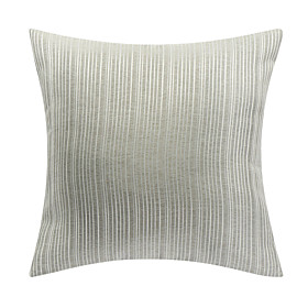 Gray Throw Pillow <br/> Classic Gray Striped Polyester Decorative Pillow Cover