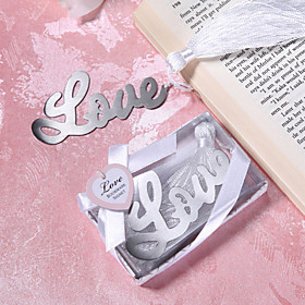 Love Design Metal Bookmark Wedding Favor
