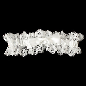 Satin Classic Wedding Garter with Bowknot Lace Garters