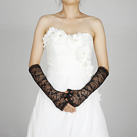 Elbow Length Fingerless Glove Lace Party/ Evening Gloves Spring Summer Fall Winter
