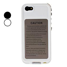 Ultra Glatte Og Slanke Vandt?t Beskyttende Full Body Case Med Hovedtelefoner Converter Kabel Til Iphone 5