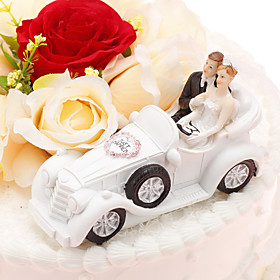 Cake Topper Classic Couple Vehicle Resin Wedding Anniversary With PVC Bag