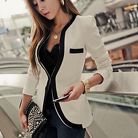 TS Slim Blazer with Piping Detail