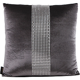 Gray Throw Pillow <br/> Traditional Gray Synthetic Decorative Pillow Cover