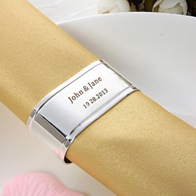 Personalized Oval Silver Plated Napkin Ring