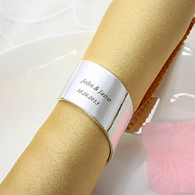 Personalized Silver Plated Napkin Ring