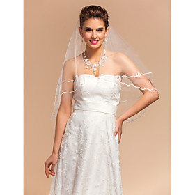 Elegant Elegant One-tier Elbow Wedding Veils With Pencil Edge