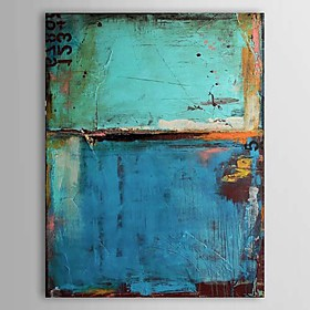 Hand-Painted Abstract Vertical, Classic Modern Oil Painting Home Decoration One Panel 523184