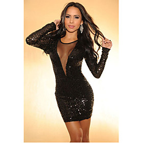 Women's Stylish Sequins Backless Dress