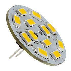 6W G4 LED Spotlight 12 SMD 5730 570 lm Warm White DC 12 V