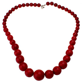 Tower-shaped Red Turquoise Necklace