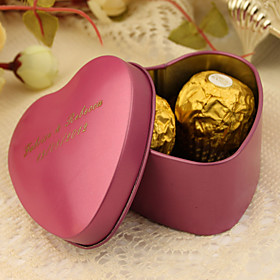 Heart Creative Tins Favor Holder with Pattern Favor Boxes Favor Tins and Pails - 24