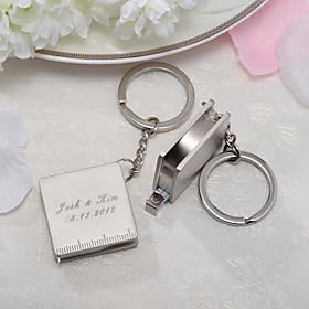 Roestvrij Staal Keychain Favors-4 Stuk / Set Sleutelhangers Gepersonaliseerd Zilver