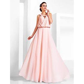 TS Couture Prom Formal Evening Military Ball Dress - Vintage Inspired Elegant A-line Princess Scoop Floor-length Chiffon withBeading plus size,  plus size fashion plus size appare