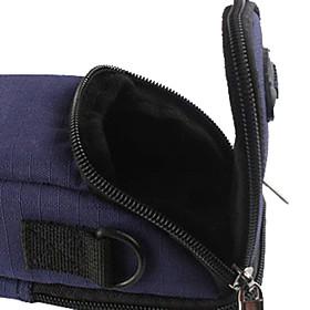Ripstop Polyester Polstret Blådt Beskyttende Børetaske Case Med Kroge Til Slim Card Digital Camera Bl?
