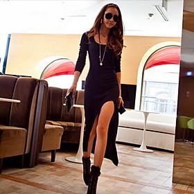 Women's High Thigh Split Maxi Dress