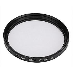 Banner 6pt 55mm Stjerne Filter Til Canon, Nikon, Sony Og Mere