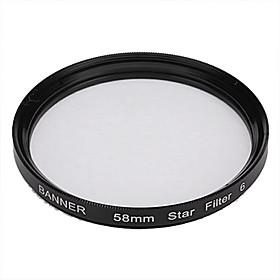 Banner 6pt 58mm Stjerne Filter Til Canon, Nikon, Sony Og Mere