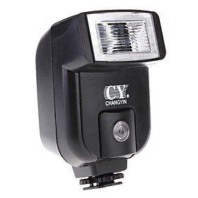 Yinyan Cy 20 Lille Mini Hot Shoe Flash Med Pc Sync Port Til Canon Nikon Dc Dslr